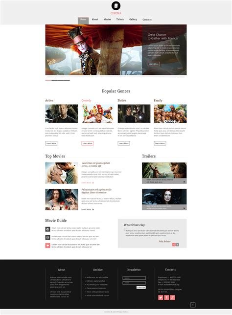 Theatre Responsive Website Template by Movie Responsive Website Template 49276