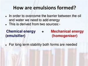 Emulsion technology