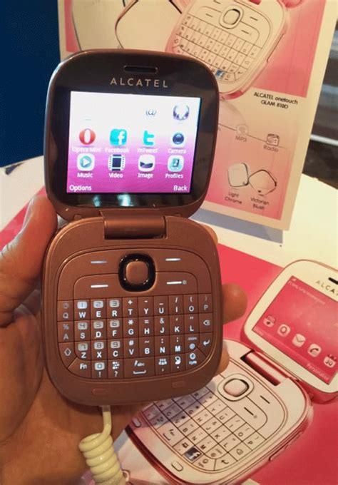 pink glam phone  alcatel zoneitech
