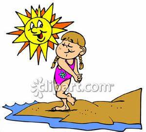 Beach clipart hot day - Pencil and in color beach clipart ...