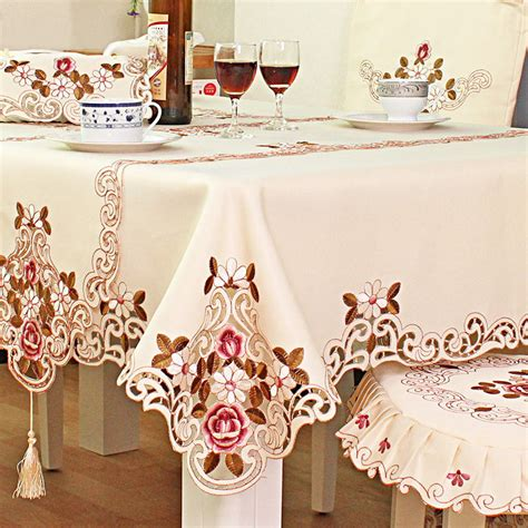 European Style Embroidered Tablecloth Table Cover Wedding
