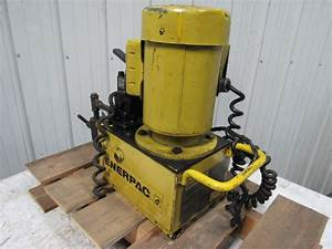 Enerpac Pem3602b 30000 Submerged 10 000psi Max  Electric Hydraulic Pump 1phase