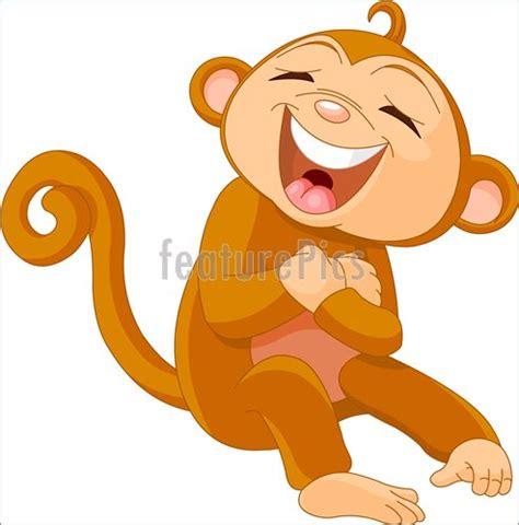 monkeys  apes laughing monkey stock illustration