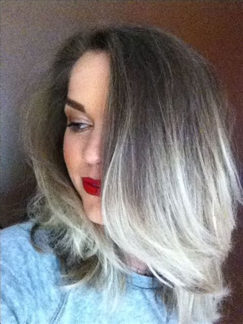 gray hair transition images  pinterest