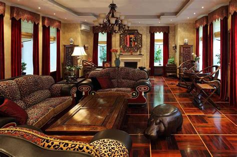 Safari Inspired Living Room Decorating Ideas by Unique Preference Of African Home D 233 Cor Online Meeting Rooms