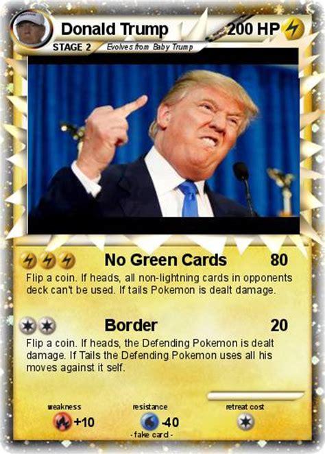We have a large selection of pokemon singles. Pokémon Donald Trump 162 162 - No Green Cards - My Pokemon Card