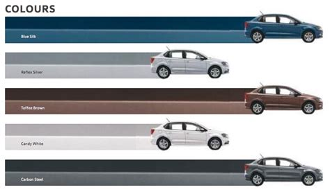 volkswagen ameo colours volkswagen ameo colors blue brown white steel silver