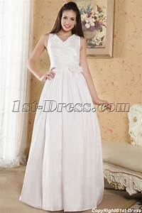 cheap v neckline casual wedding dresses for outdoor With cheap casual wedding dresses