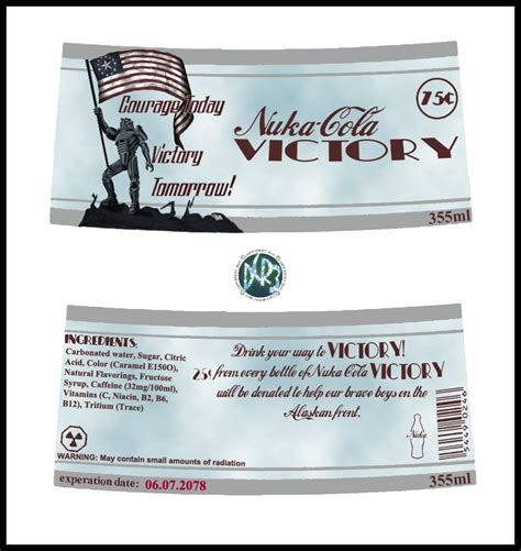 nuka cola victory label by dcriii on deviantart