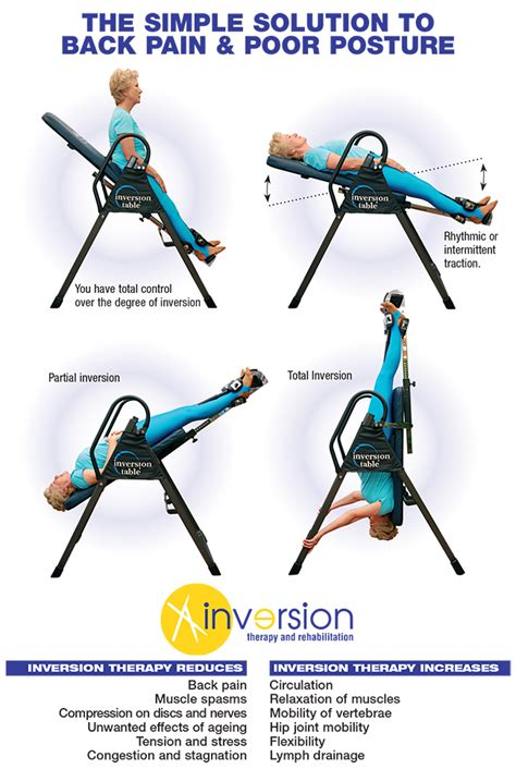benefits of using inversion table use an inversion table therapy for back pain exercises