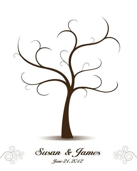 diy wedding tree guest book printable  digital