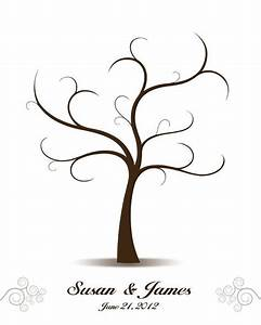 wedding tree guest book love birds guest book alternative With family tree thumbprint template