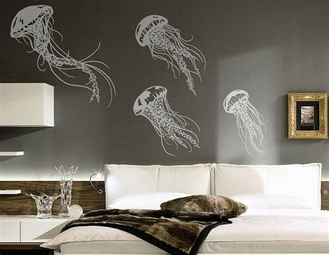 jellyfish wall sticker set contemporary wall stickers
