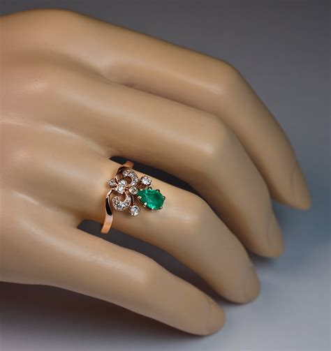 unusual engagement rings unique emerald and ring jewelry vintage rings