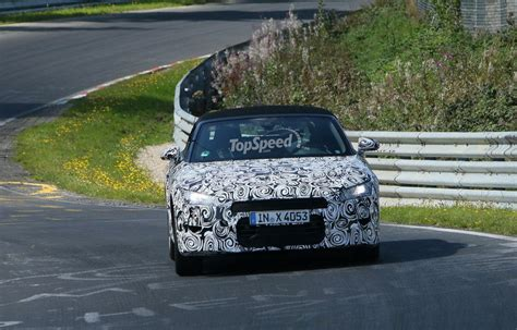 Spy Shots Audi Roadster Testing Nurburgring Top Speed
