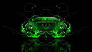 Lamborghini Gallardo Front Fire Abstract Car 2014 el Tony