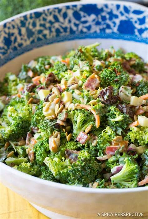 broccoli salad recipe video  spicy perspective