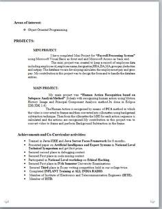 Simple Resume Format Sle For by Resume Format A Resume Professional