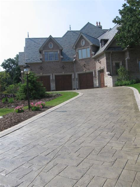 stamped concrete driveway houzz