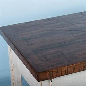 Vintage Kitchen Island with Reclaimed Butcher Block Top at