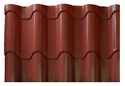 clay profile metal roof tiles copper finish classic