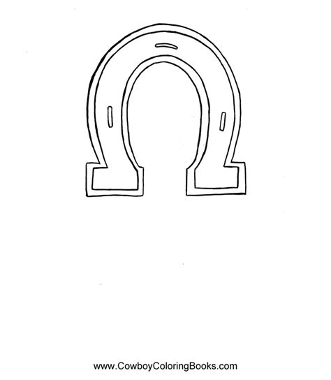 horse shoe coloring pageuse   pattern