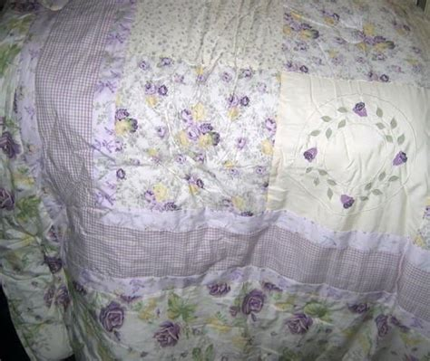 shabby chic bedding in lavender lavender roses armoire julia nip shabby to chic twin 3 pc cotton comforter set ebay