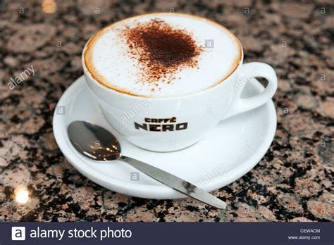 Cup Of Cappuccino Coffee In Caffe Nero, England, Uk Stock Sumatra Coffee Logo Cleaning Ninja Maker Flush Starbucks Brewed Verismo Pods Map Sling Drink Vinegar Water Machine Naturally Organic