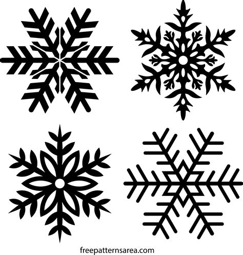 6 free vector (svg) icons in weather, christmas · added on nov 24th, 2014. Free Snowflake Stencil & Clipart Vector Drawings ...
