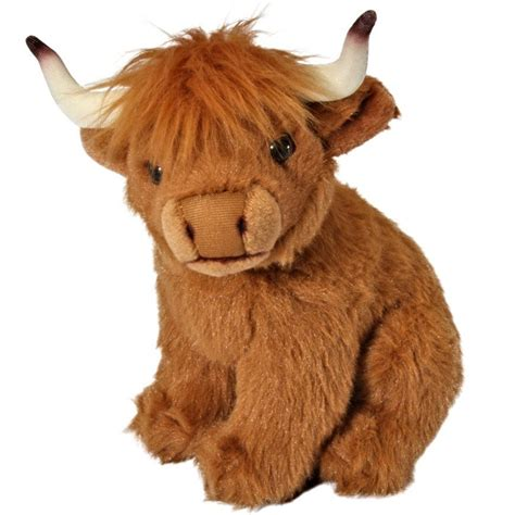 20cm Living Nature Highland Cow Soft Toy  Plush Cuddly