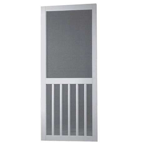 screen doors at home depot screen tight 36 in x 80 in white solid vinyl 5 bar