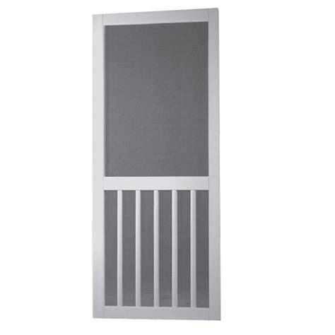 screen door home depot screen tight 32 in x 80 in vinyl white 5 bar screen door