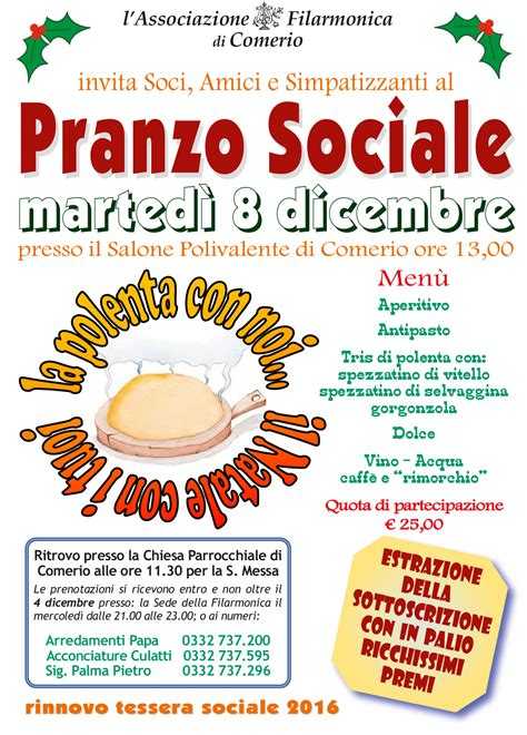 si鑒e sociale pranzo sociale 2015 associazione filarmonica di comerio