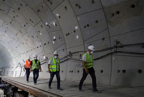 suez canal tunnels travel time reduced  hours