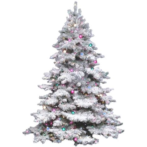 holiday aisle flocked alaskan  white artificial