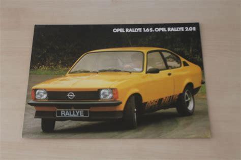opel kadett c rallye 2 0 e 181080 opel kadett c rallye 1 6 s 2 0 e prospekt 11 1977 ebay