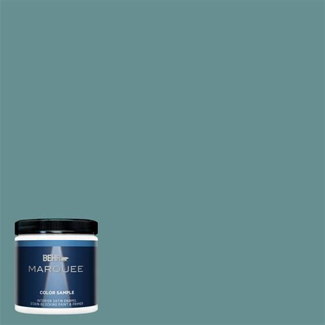 behr marquee 8 oz 500f 6 hallowed hush satin enamel interior exterior paint and primer in one
