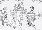 Coloring Band Pages Drawn Musicians Motown Sketch Deviantart Template sketch template