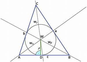 Inkreis Dreieck Berechnen : untersuchen der winkelhalbierenden im dreieck ~ Themetempest.com Abrechnung