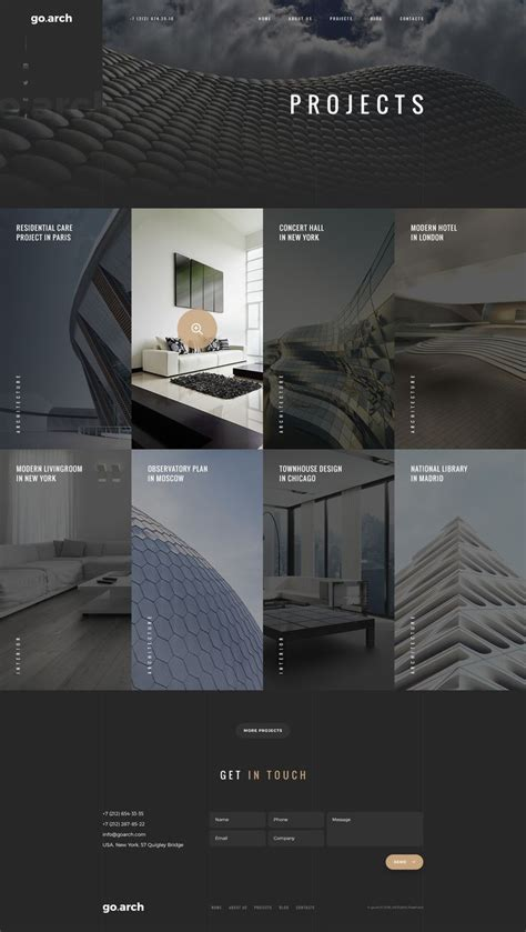 goarch architecture psd template psd templates