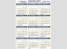 Calendario 2015 con fechas importantes Calendario 2015