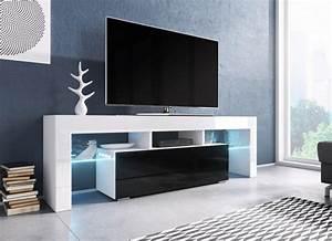 Tv Lowboard : tv board lowboard schrank fernseherschrank hochglanz real ~ Watch28wear.com Haus und Dekorationen
