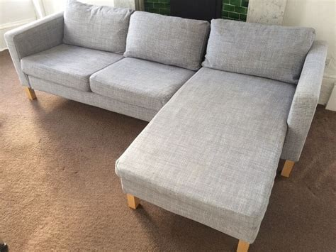 Ikea Karlstad Isunda Grey Sofa, Chaise And Footstool