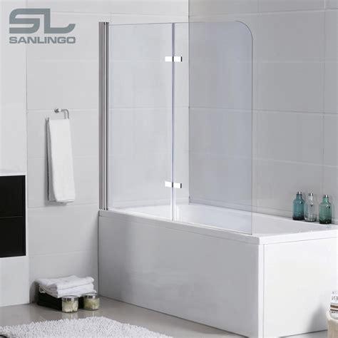 2teilige Glas Badewanne Aufsatz Faltwand Duschwand