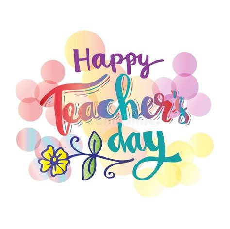 happy teachers day card hand lettering calligrapgy