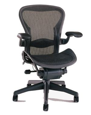herman miller aeron chair size b semi loaded