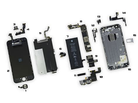 iphone  parts diagram