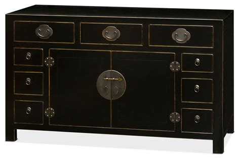 Distressed Black Sideboard by Ming Style Black Distressed Sideboard Asian Buffets