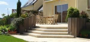 nivrem escalier bois pour terrasse exterieure diverses id 233 es de conception de patio en