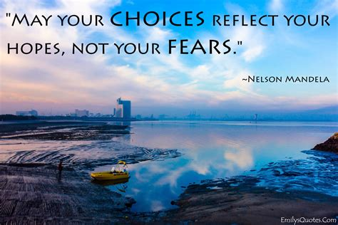 choices reflect  hopes   fears